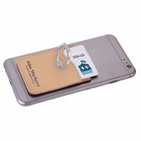 Personalized Light Brown Phone Wallet with Ring