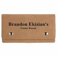 Personalized Light Brown Playing Cards & Dice Set