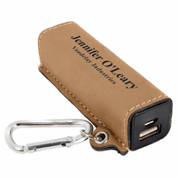 Personalized Light Brown USB Power Bank
