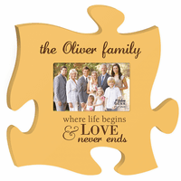 Personalized Love Never Ends Puzzle Piece Photo Frame - Discontinued