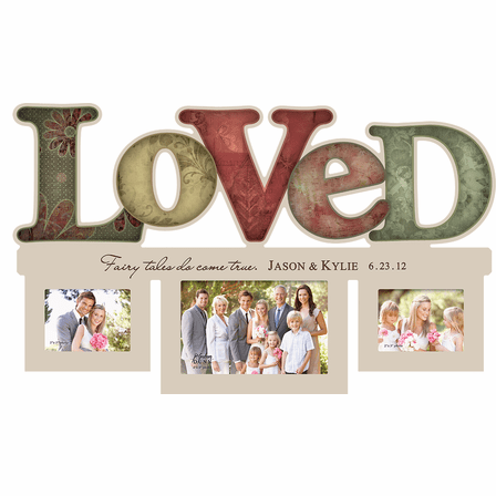 Personalized Loved Word Style Photo Frame