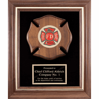 Personalized  Maltese Cross Firefighter's Frame