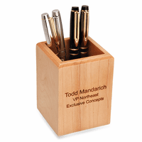 Personalized Maple Pen/Pencil Cup