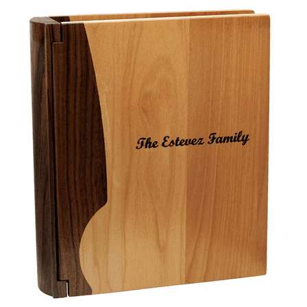 Personalized Maple & Walnut Wood Photo Album