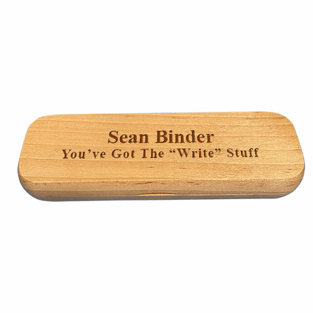 Personalized Maple Wood Double Pen and Box Set