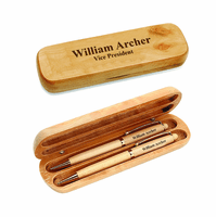 Personalized Maple Wood Pen and Pencil Set