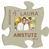 Personalized Marriage Puzzle Piece Photo Frame