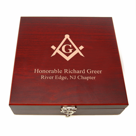 Personalized Masonic Flask & Gaming Set