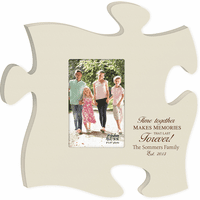 Personalized Memories Puzzle Piece Photo Frame