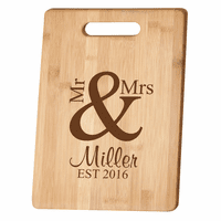 Personalized Mr. & Mrs. Bamboo Cutting Board