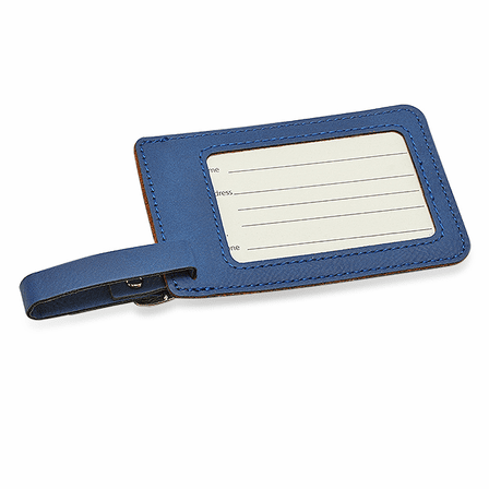 Personalized Navy Blue Luggage Tag