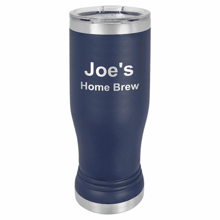Personalized Navy Blue Polar Camel Stainless Steel Pilsner Glass