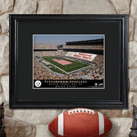 Personalized NFL Stadium Print with Wood Frame