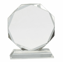 Personalized Octagon Crystal Award