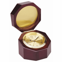 Personalized Octagon Style Chest Clock with Gold Dial