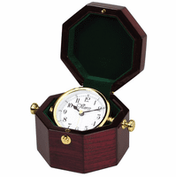 Personalized Octagon Style Chest Clock with White Rotating Dial