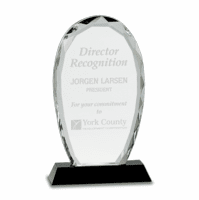 Personalized Oval Crystal Desktop Award