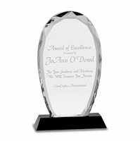 Personalized Oval Crystal Desktop Recognition Award
