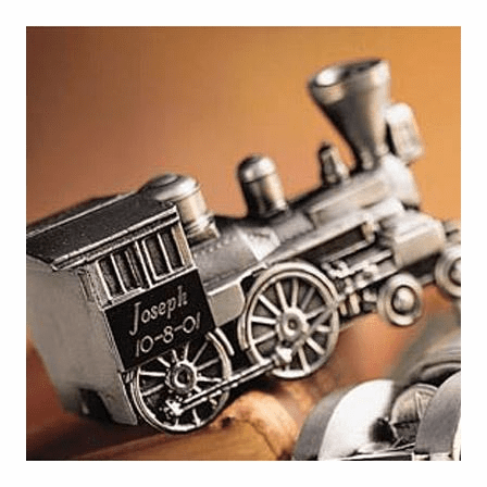Personalized Pewter Train Bank- Discontinued