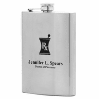 Personalized Pharmacist Theme Flask