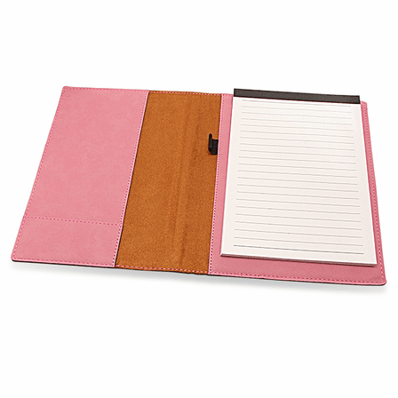 Personalized Pink Leatherette Mini Portfolio