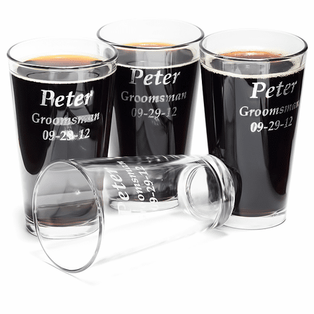 Personalized Pint Glass Set