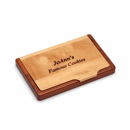Personalized Pocket/Desktop Engravable Business Card Holder
