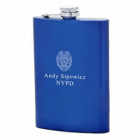 Personalized Police Badge Symbol Flask