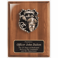 Personalized Police Emblem Plaque
