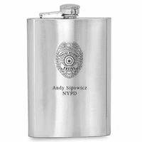 Personalized Policeman's Flask