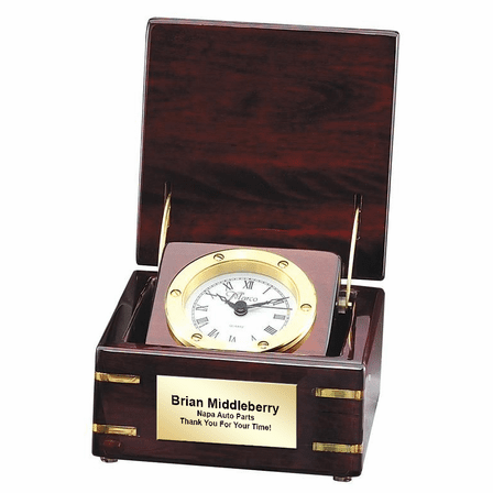 Personalized Pop Up Style Chest Clock with Nautical Bezel