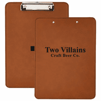 Personalized Rawhide & Black Leatherette Clipboard