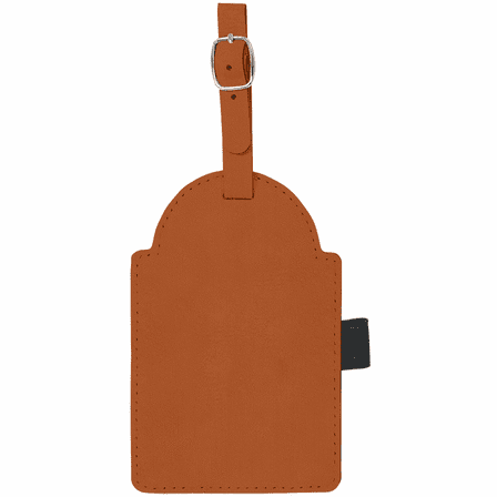 Personalized Rawhide Golf Bag Tag with Tees