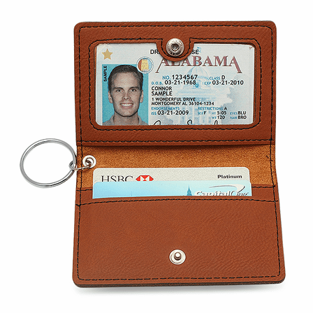 Personalized Rawhide ID Holder & Keychain