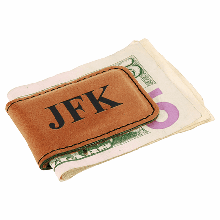 Personalized Rawhide Magnetic Money Clip