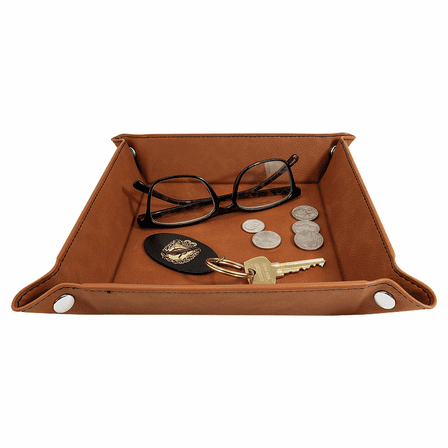 Personalized Rawhide  Men's Valet Tray with Folding Snaps