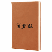 Personalized Rawhide Tone Journal with Black Satin Bookmark