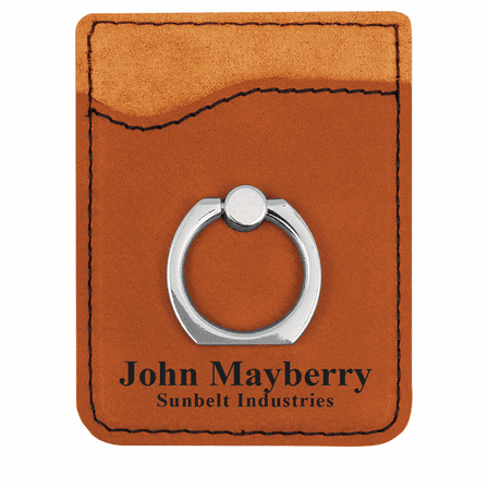 Personalized Rawhide Tone Phone Wallet with Ring