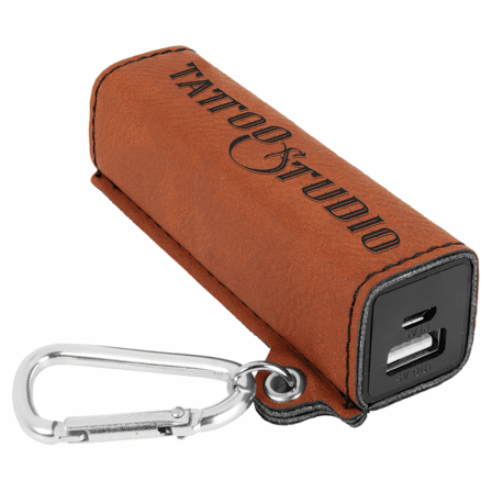 Personalized Rawhide Tone USB Power Bank