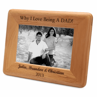 Personalized Red Alder DAD Picture Frame