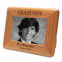 Personalized Red Alder GRADUATE Picture Frame
