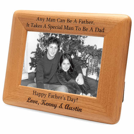 Personalized Red Alder Special Man To Be A Dad Picture Frame