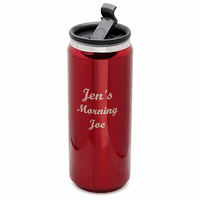 Personalized Red Can Design Travel Mug