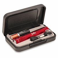 Personalized Red Maglite Solitaire Gift Set