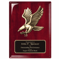 Personalized Rosewood Eagle Plaque