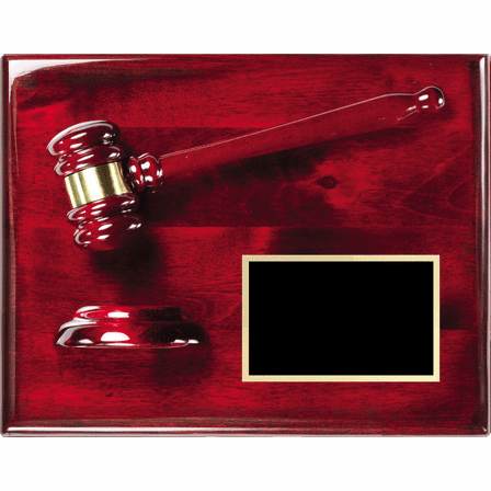 Personalized Rosewood Gavel & Sounding Board Plaque