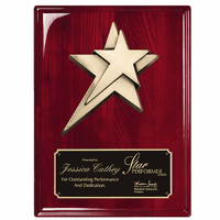 Personalized Rosewood Shooting Star Plaque