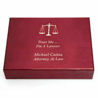 Personalized Scales of Justice Lawyer's Humidor