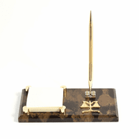 Personalized Scales of Justice Notepad Holder & Pen Stand