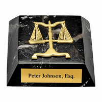 Personalized Scales of Justice Paperweight